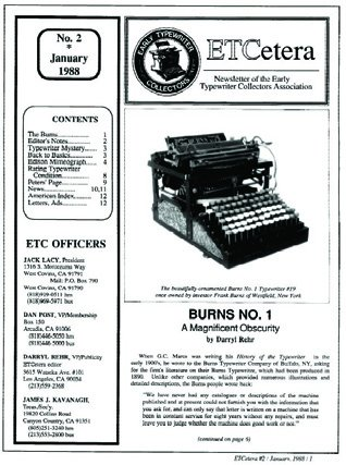 ETCetera No. 2 - January 1988