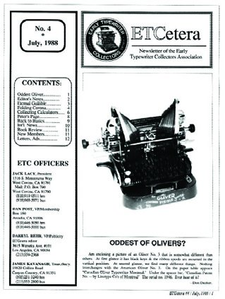ETCetera No. 4 - July 1988