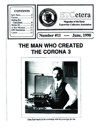 ETCetera No. 11 - June 1990